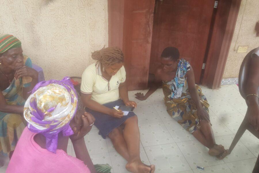 Baseline survey with poor rural women in Anaku community